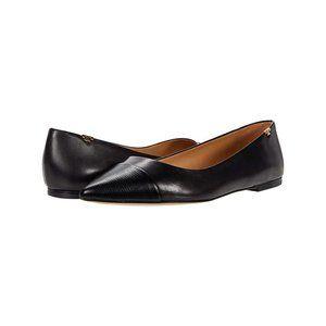Tory Burch Penelope Cap-Toe Flat Perfect Black